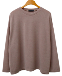 Pusong knit round tee