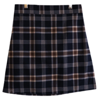 Happy check skirt