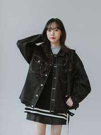 Stitched boxy jacket