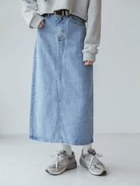 Back classic denim skirt