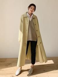 natural loose fit wool coat natural loose fit wool coat
