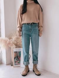 Van Hai cut date denim pants