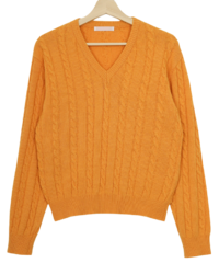 Orange Market Cable Knit