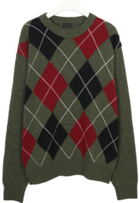 Argyle wool knit