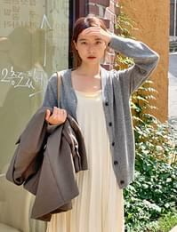Ordinary button wool cardigan_C