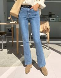 Like fit boots cut denim pants