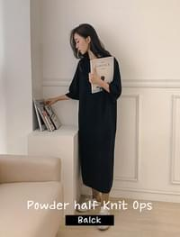 Powder Half Knit Dress_R