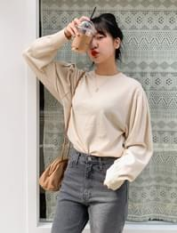 wool puff sleeve knit shearing puff sleeve wool knit