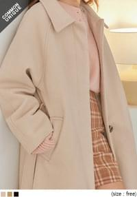 AEVE WOOL RAGLAN SINGLE MAC COAT