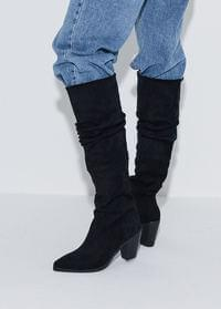 Shirring long boots