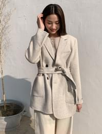 natural unbalance wool jacket