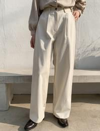High West Pin Tuck Wide Pants-pt