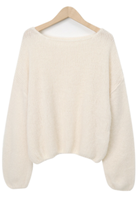 Blur wool loose knit_U (size : free)