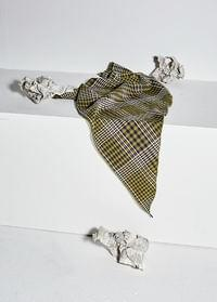 Old check scarf