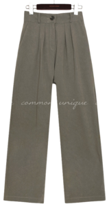 HIND SATIN BANDING PINTUCK SLACKS