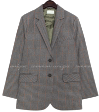 DIANO WOOL 50% CHECK JACKET