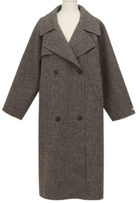 Trevi herringbone long coat (size : free)