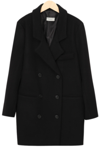 Tis double wool coat (size : free)