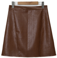 Lounge leather mini skirt_H