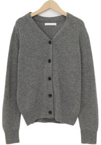 Ordinary button wool cardigan_C (size : free)