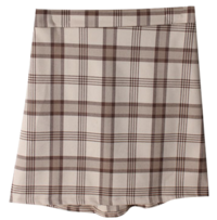 Marbrit check skirt