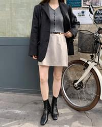 meringue thin belt skirt