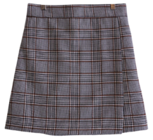 Modern Check Wrap Skirt