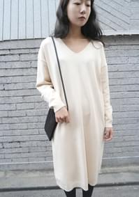 wearable V-neck knit ops (3colors)