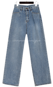 LOKI PINTUCK WIDE DENIM PANTS 牛仔褲