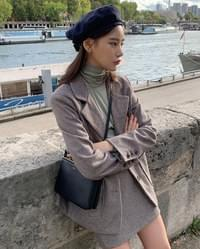 kate suede buckle beret