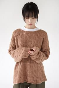 girlish loose twist knit