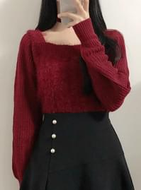 Square Fur Knit
