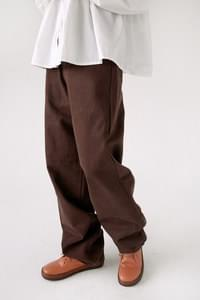 straight solid cotton pants