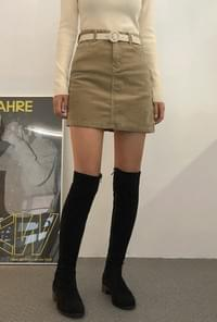 Corduroy short skirt