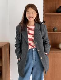 Bay wool button jacket_J (size : free)