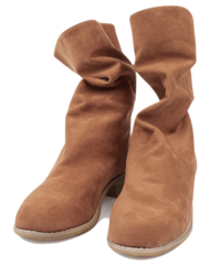Suede fuzzy boots