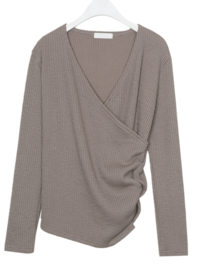 Ribbed wrap knit
