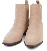 Modern suede ankle boots ブーティ