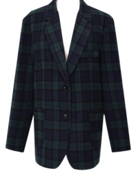 Gent wool check jacket_Y (울 10%) (size : free)