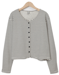 Pepper stripe cardigan 開襟衫