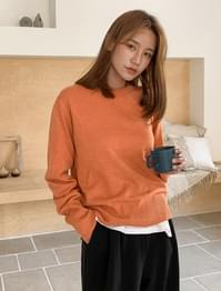 wool standard fit round knit