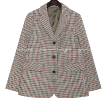 LAPAZ WOOL HOUND CHECK JACKET