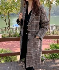 Oreo Check Quilted Coat