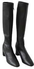 knee-high simple line boots (3colors)