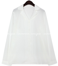 NEIBA SILKY COLLAR BLOUSE
