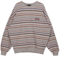 HIDE Future Stripe Sweat Shirt (Beige)
