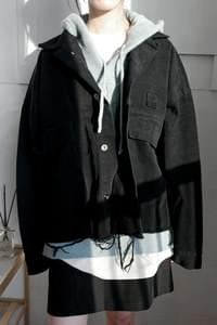 vintage cutting crop jacket