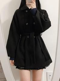 New Offer ♥ Baby Cara Double Black Coat
