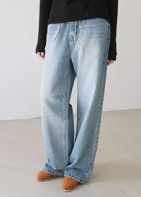 String wash denim