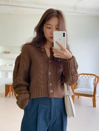 Mug wool crop cardigan_A (울 30%) (size : free)
